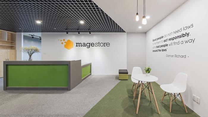 环保服装设计图_电子商务服务商办公室装修设计案例效果图_岚禾办公空间设计