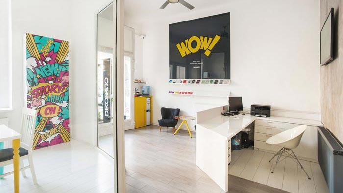 环保服装设计图_品牌设计工作室装修设计案例效果图_岚禾办公空间设计