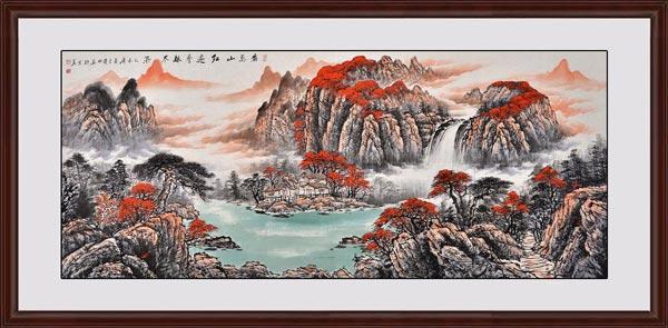 《看万山红遍 层林尽染》效果图