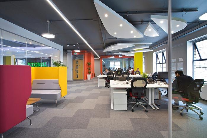 科技公司办公室装修效果图 岚禾设计效果图