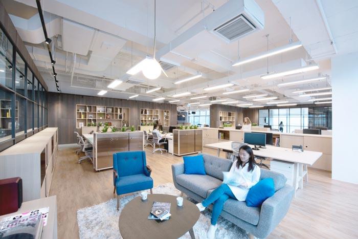 音乐传媒公司办公室装修设计案例