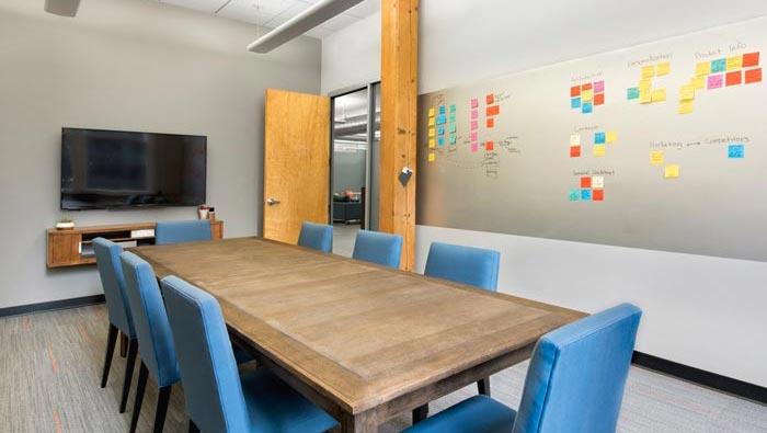 用户体验设计公司办公室会议室装修设计案例效果图