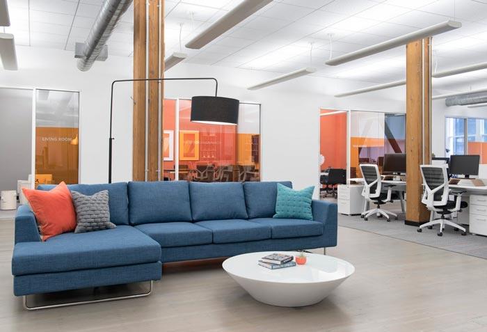用户体验设计公司办公室接待区域装修设计案例效果图