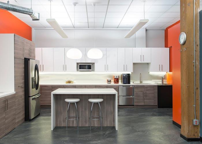 用户体验设计公司办公室茶水间装修设计案例效果图