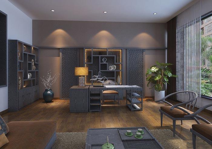 中式风格投资公司办公室装修设计案例