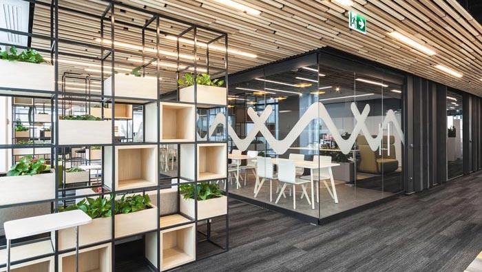 资讯_创意办公空间装修设计案例效果图_岚禾办公空间设计