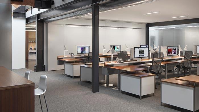 环保服装设计图_480平方两层办公室装修实景图_岚禾办公室实景图