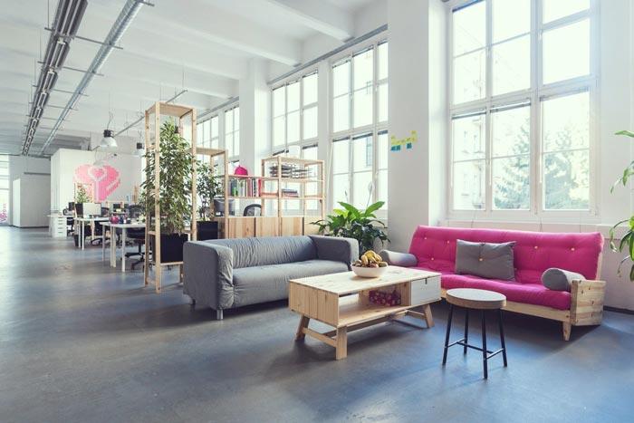 550平方办公室装修设计实景图