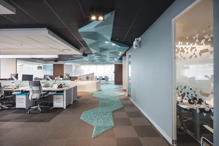 500平方办公室装修设计实景图