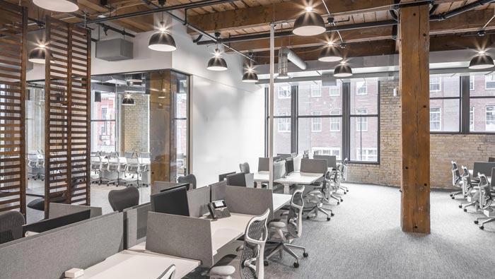 美容室布置_800平方通信办公室装修设计实景图_岚禾办公室设计