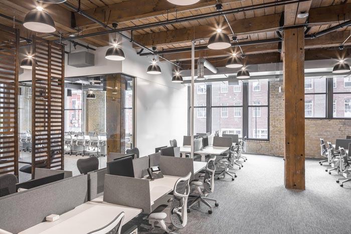800平方通信办公室装修设计实景图