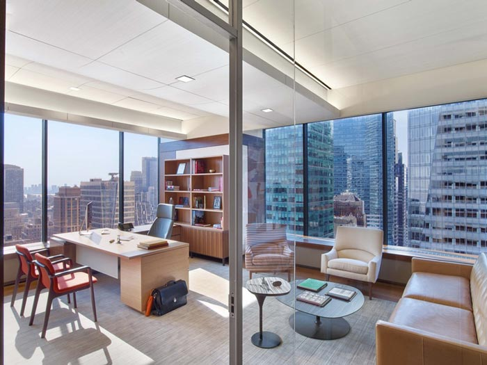 高端老总办公室装修效果图_岚禾办公室设计