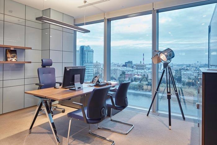 小型老总办公室装修效果图 岚禾办公室设计