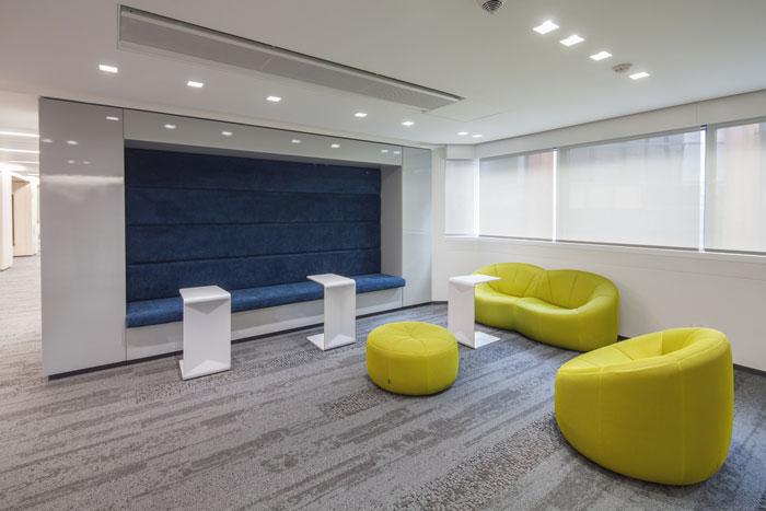 贷款金融公司办公室休息区域装修设计案例效果图