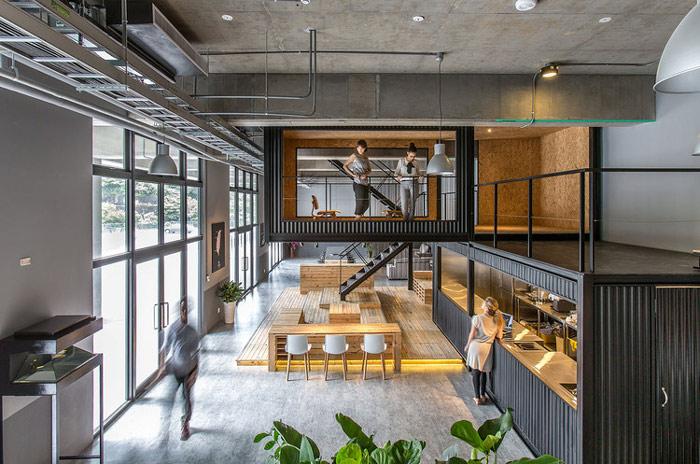 物流公司loft风格办公室装修设计案例