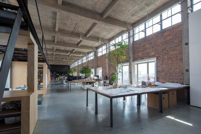 厂房LOFT风格办公室办公区装修设计案例效果图