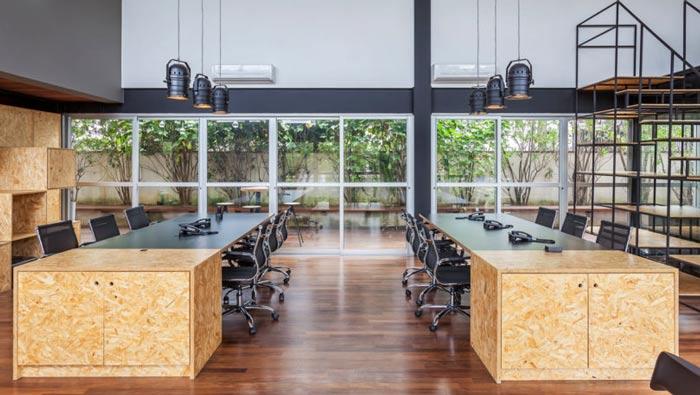loft风格电影公司办公室办公区装修设计案例效果图