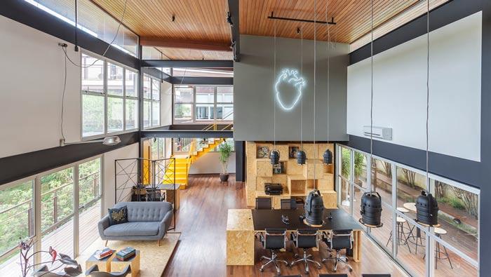loft风格电影公司办公室俯视图