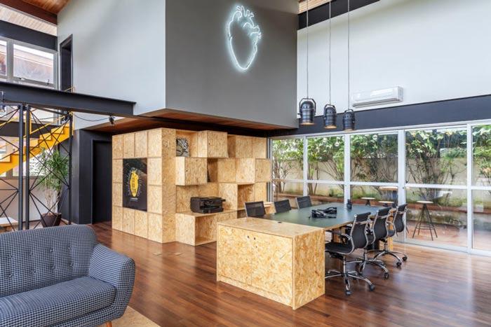 loft风格电影公司办公室储物柜装修设计案例效果图