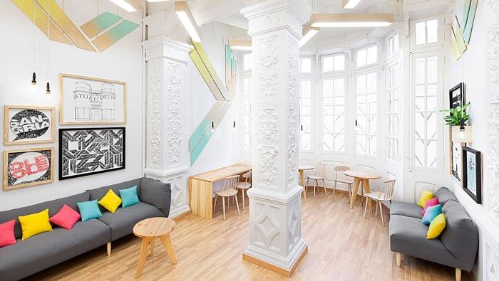 英语培训机构办公室办公阳台区装修设计案例效果图