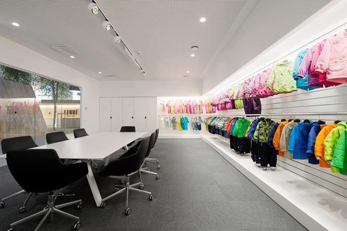 服装厂房办公室会议室装修设计案例效果图