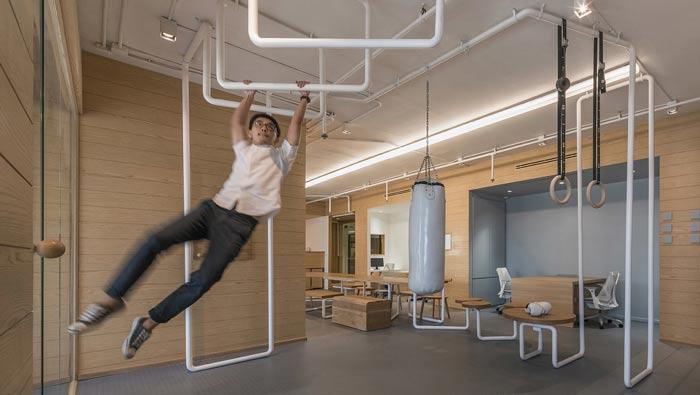 IT创业公司办公室单杠区装修设计案例效果图