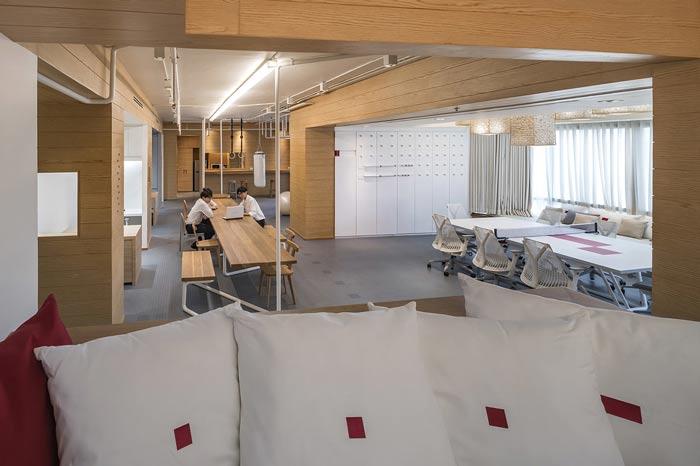IT创业公司办公室大厅装修设计案例效果图