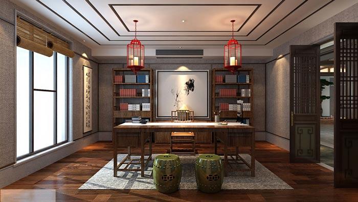 新中式办公室装修设计案例