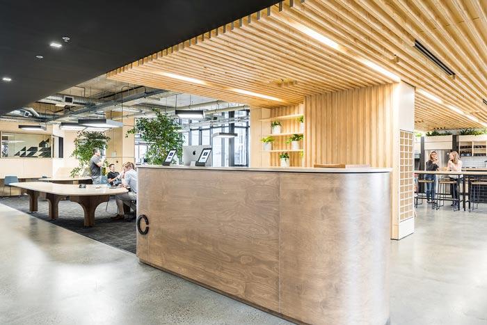节能公司办公室前台装修设计案例效果图