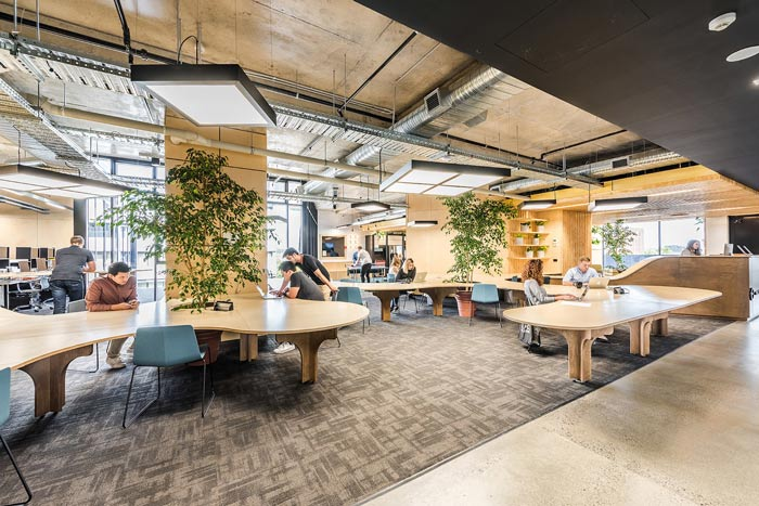 节能公司办公室办公区域装修设计案例效果图