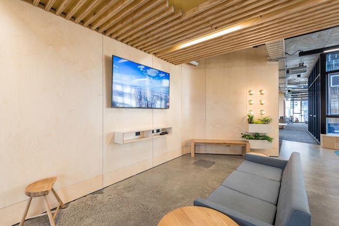 节能公司办公室休息区域装修设计案例效果图