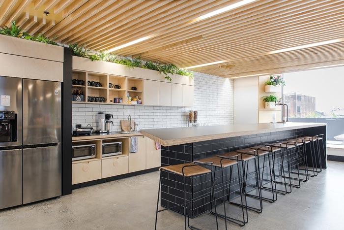 节能公司办公室茶水间装修设计案例效果图