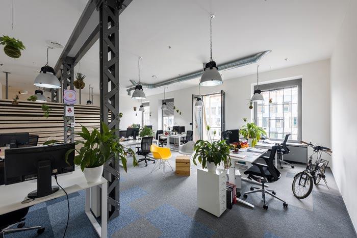 节能技术公司办公室办公区装修设计案例效果图