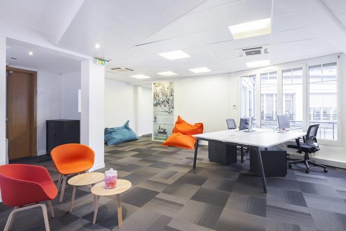 空气环保公司办公室装修设计案例