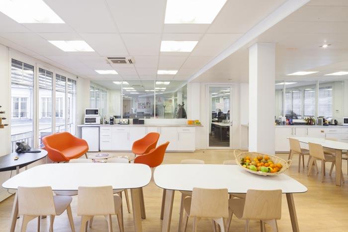 空气环保公司办公室茶水间装修设计案例效果图