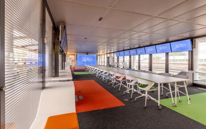 环境监测公司办公室办公区装修设计案例效果图