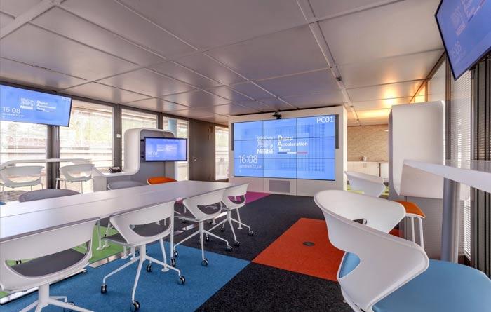 环境监测公司办公室右侧装修设计案例效果图