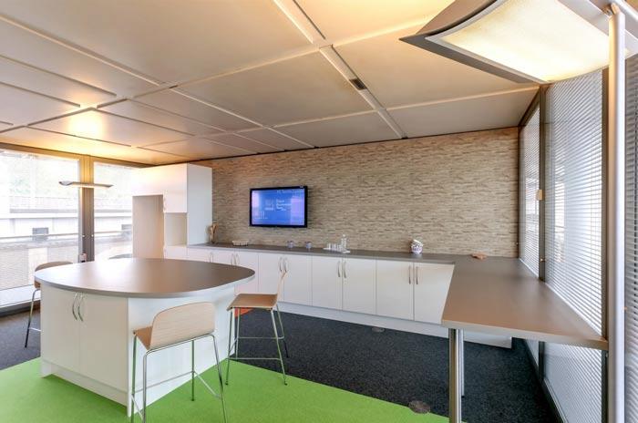 环境监测公司办公室茶水间装修设计案例效果图