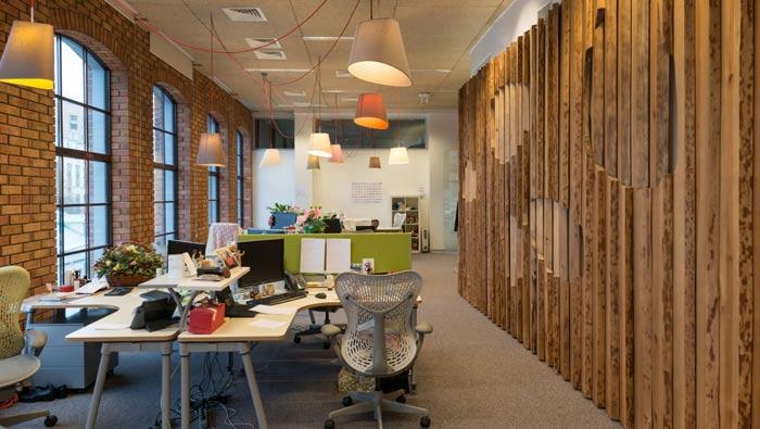 科技信息公司办公室办公区装修设计案例效果图