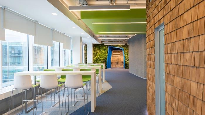 科技信息公司办公室休息区装修设计案例效果图