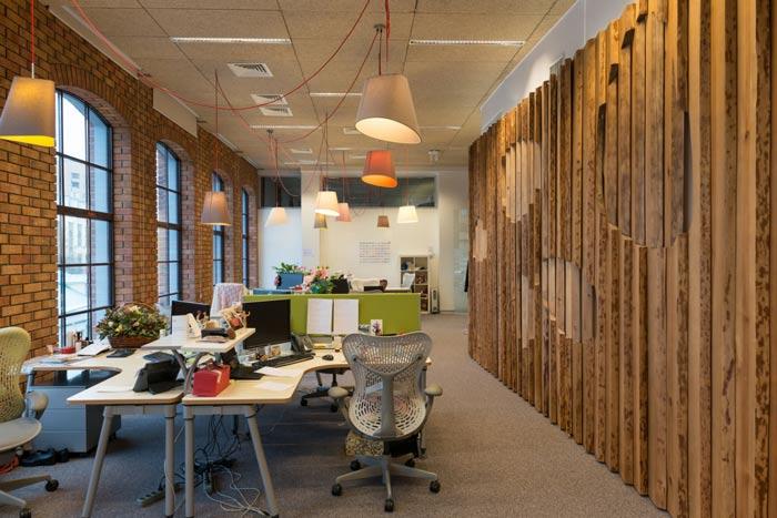科技信息公司办公室装修设计效果图