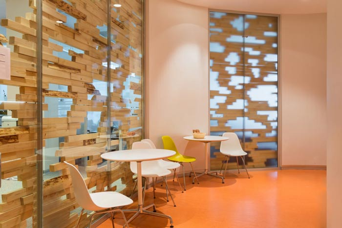 科技信息公司办公室接待区装修设计案例效果图