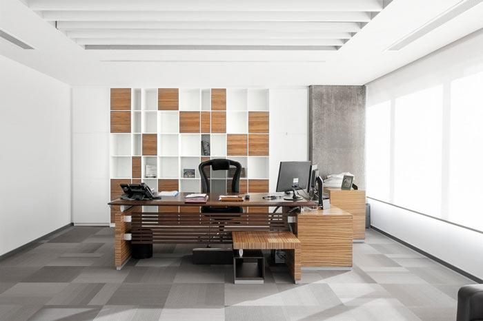 公司总经理办公室装修效果图