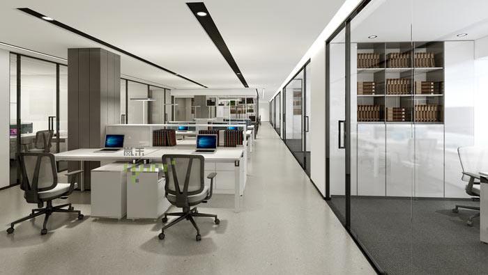 杭州事务所办公室开敞性办公装修效果图