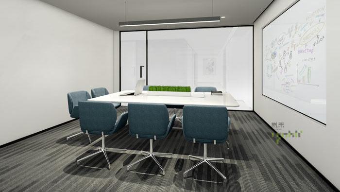 杭州事务所办公室雾化小会议室装修效果图