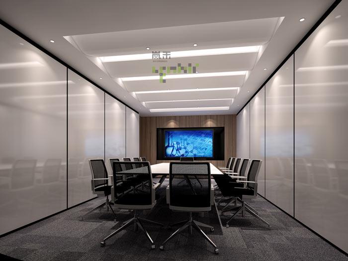过滤器材公司办公室中会议室装修效果图