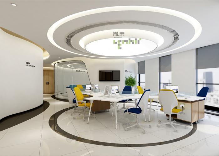 时尚小型办公室办公区域装修效果图