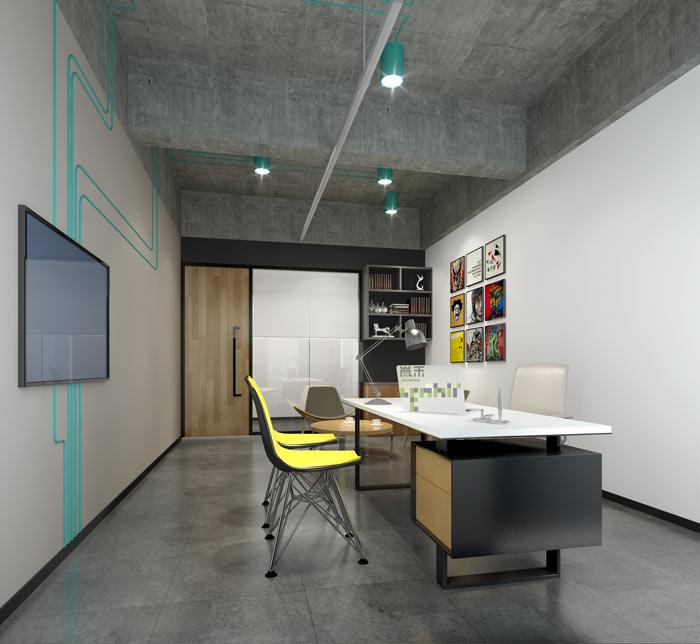 通信科技公司主管办公室装修设计案例效果图
