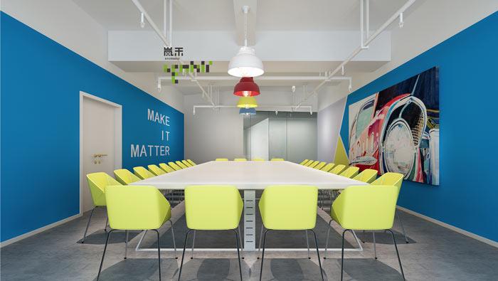 汽车超人公司办公室18楼会议室装修设计效果图