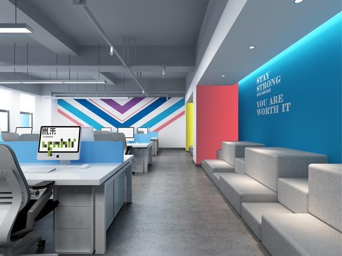 汽车超人公司办公室18楼办公区装修设计效果图